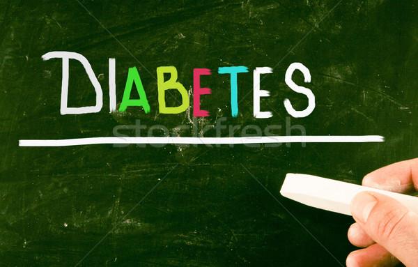 Diabète médecin médicaux fond grasse douleur Photo stock © nenovbrothers