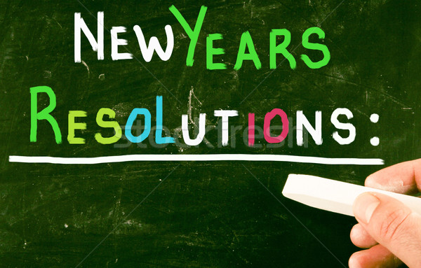 new years resolutions Stock photo © nenovbrothers