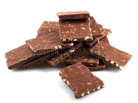 Csokoládé szelet bár tej cukorka eszik diéta Stock fotó © nenovbrothers