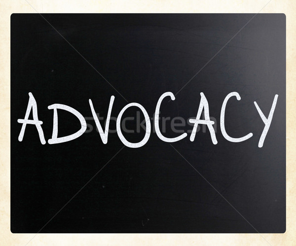 The word 'Advocacy' handwritten with white chalk on a blackboard Stock photo © nenovbrothers