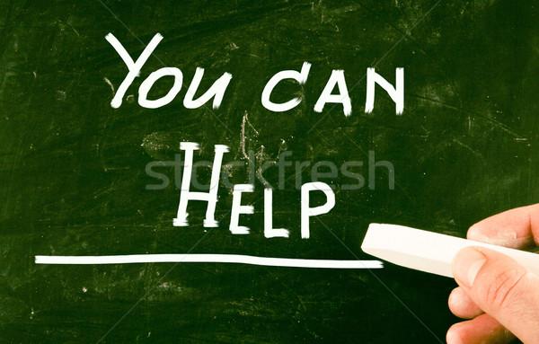 Peuvent aider Ouvrir la appel soutien sécurité Photo stock © nenovbrothers