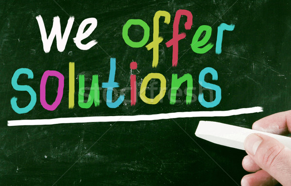 Stock photo: we offer solutions