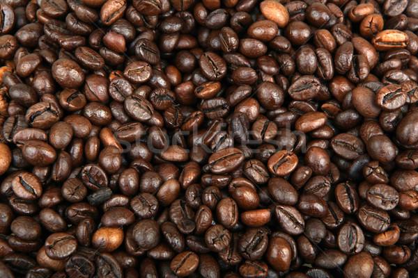Koffiebonen voedsel cafe kleur patroon Stockfoto © nenovbrothers