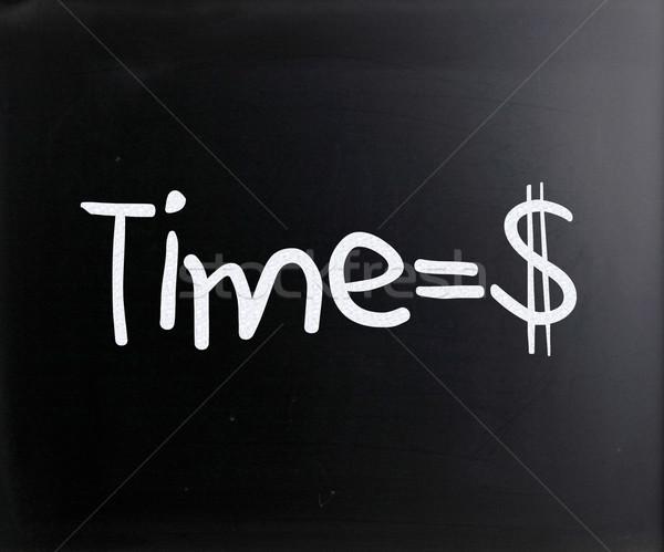 Il tempo è denaro manoscritto bianco gesso lavagna istruzione Foto d'archivio © nenovbrothers