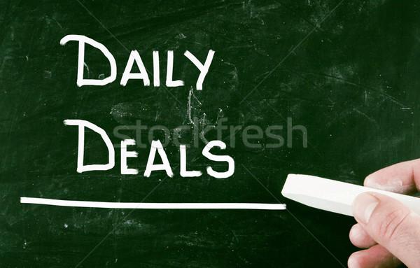 Minden nap akciók felirat szolgáltatás vásárol üzlet Stock fotó © nenovbrothers
