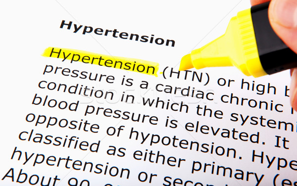 Hypertension Stock photo © nenovbrothers