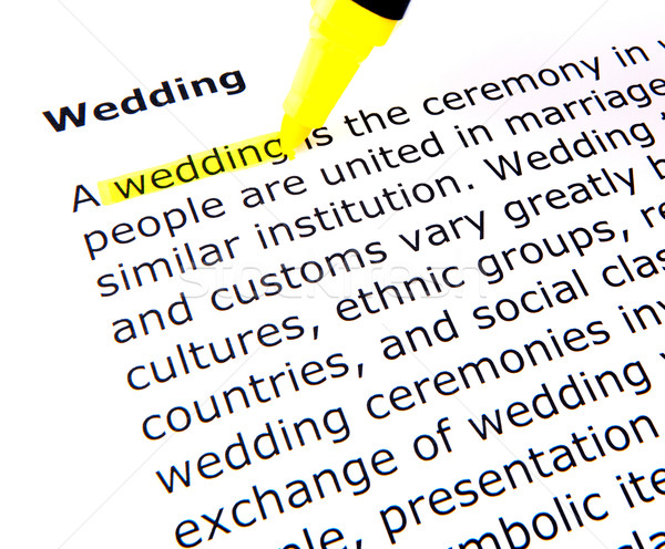 wedding Stock photo © nenovbrothers