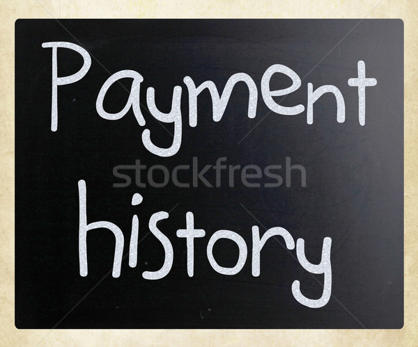 'Payment history' handwritten with white chalk on a blackboard Stock photo © nenovbrothers