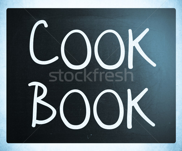 Кука книга белый мелом доске Сток-фото © nenovbrothers