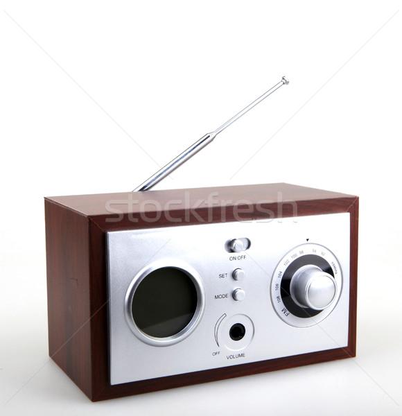 Retro rádió hang klasszikus gomb stílus Stock fotó © nenovbrothers