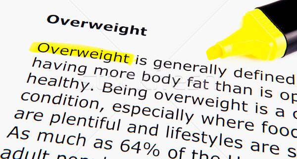 Excesso de peso mulher comida homem feliz corpo Foto stock © nenovbrothers