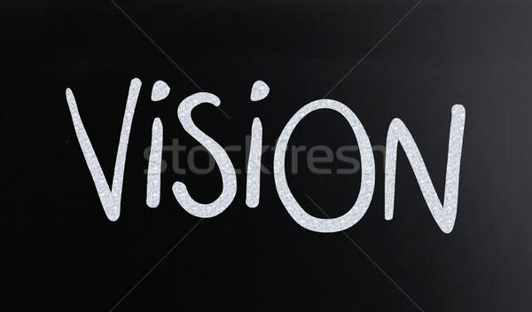 Сток-фото: слово · видение · белый · мелом · доске