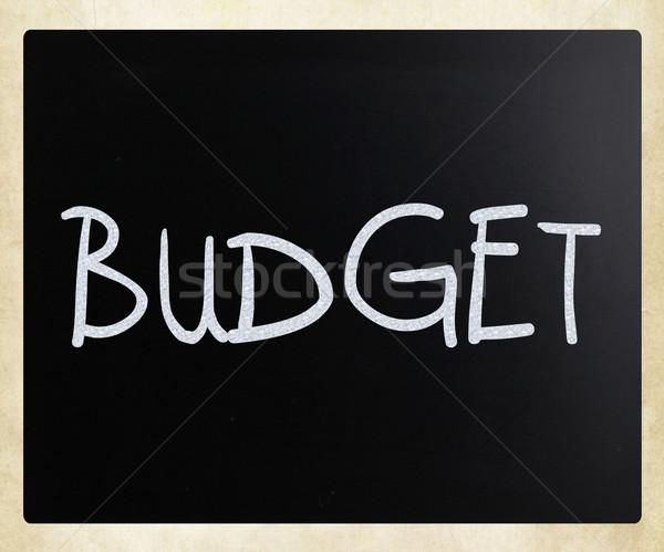 Budget witte krijt Blackboard business Stockfoto © nenovbrothers