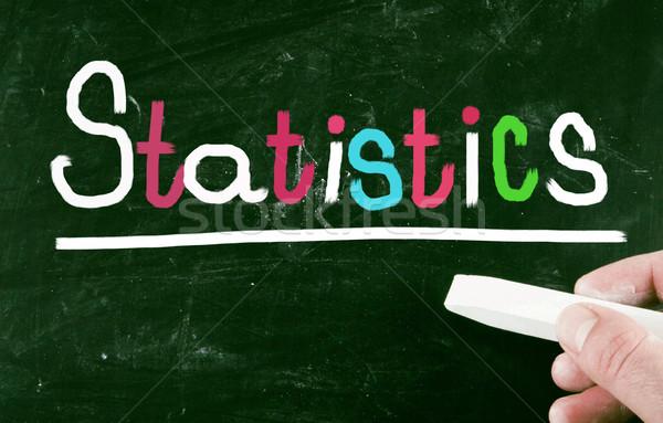 Statisztika munka pénzügy siker diagram iskolatábla Stock fotó © nenovbrothers