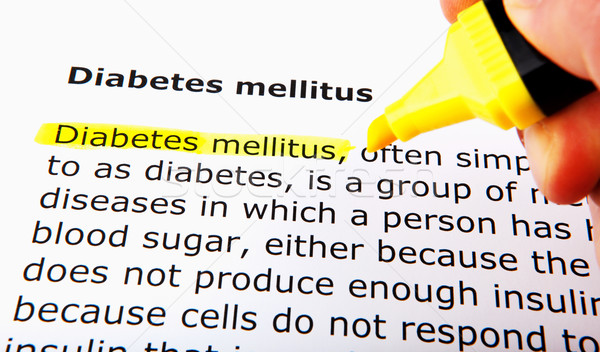 диабет стороны медицина белый пальца ухода Сток-фото © nenovbrothers