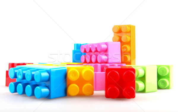 Plastic building blocks Stock photo © nenovbrothers