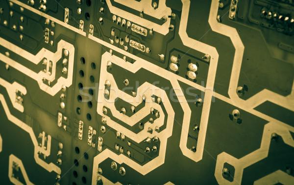 コンピュータ ボード チップ コンポーネント 抽象的な 青 ストックフォト © nenovbrothers
