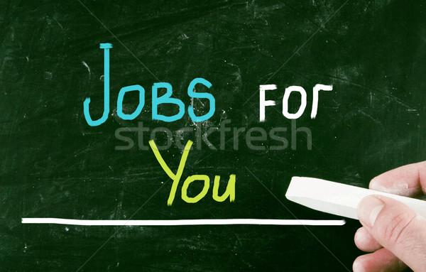 Jobs helpen opleiding baan ondersteuning menselijke Stockfoto © nenovbrothers
