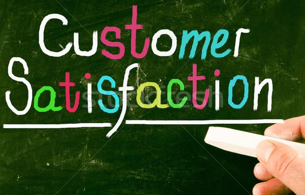 Vásárlói elégedettség üzlet szolgáltatás piac cél támogatás Stock fotó © nenovbrothers