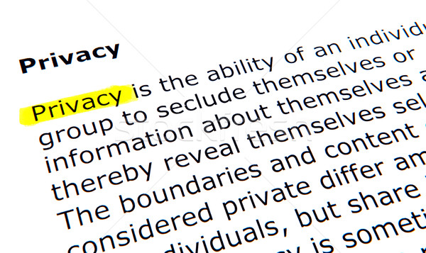 Privacy Stock photo © nenovbrothers