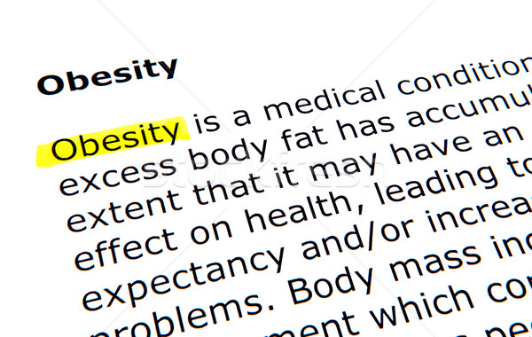 Obésité stylo document jaune macro texte Photo stock © nenovbrothers