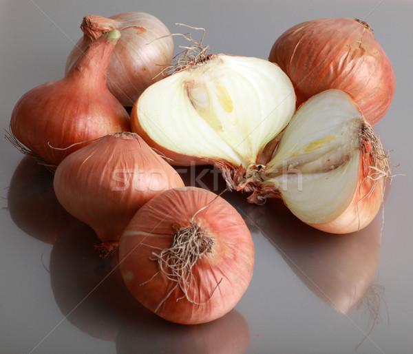 Cebola fresco notícia legumes anel sopa Foto stock © nenovbrothers