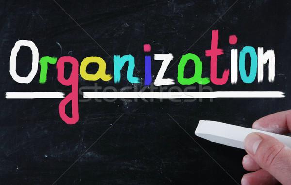 Organización escrito éxito presentación gestión objetivo Foto stock © nenovbrothers