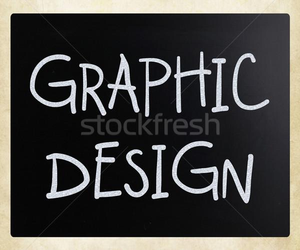 графического дизайна белый мелом доске аннотация Сток-фото © nenovbrothers