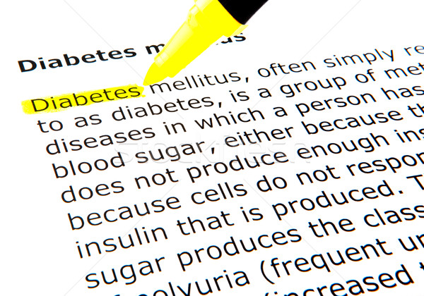 Stock photo: Diabetes