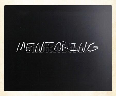Motivieren handschriftlich weiß Kreide Tafel Erfolg Stock foto © nenovbrothers