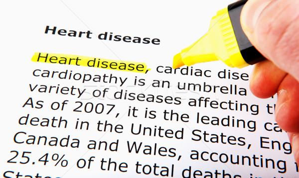 Malattie cardiache donna mano medicina stress femminile Foto d'archivio © nenovbrothers