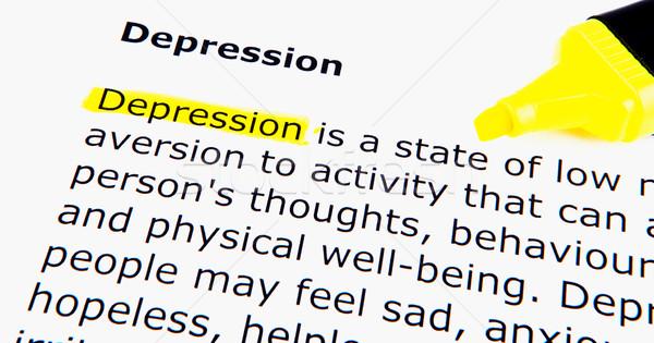 Depressie vrouw gezicht vrouwen haren triest Stockfoto © nenovbrothers