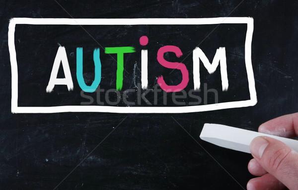 Autizmus egészség háttér kapcsolat szomorú magányos Stock fotó © nenovbrothers
