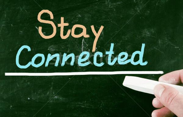 Tartózkodás dolgozik kommunikáció tanulás siker média Stock fotó © nenovbrothers