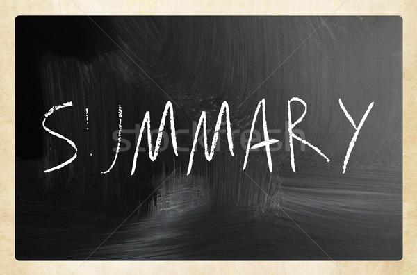 Sintesi manoscritto bianco gesso lavagna abstract Foto d'archivio © nenovbrothers