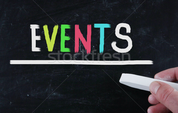 Események újság sajtó média esemény Stock fotó © nenovbrothers