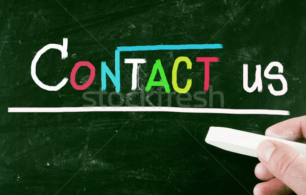 contact us concept Stock photo © nenovbrothers