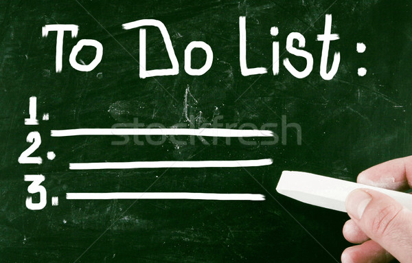 to do list concept Stock photo © nenovbrothers