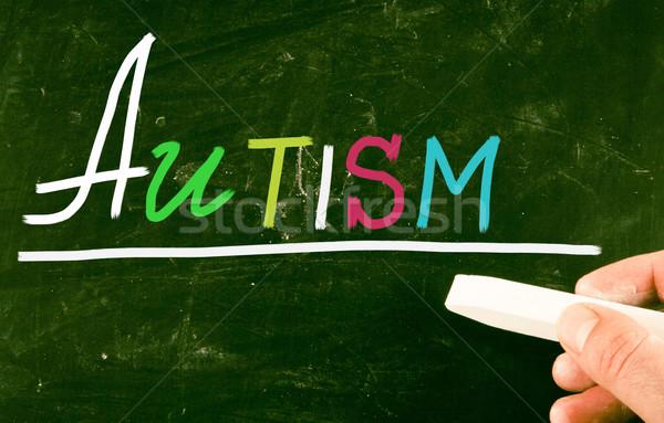 Autismo crianças médico saúde escrita comunicação Foto stock © nenovbrothers