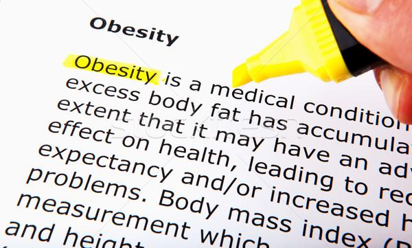 Fettleibigkeit Essen Fitness Ausübung Ernährung gesunden Stock foto © nenovbrothers