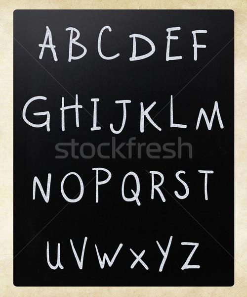 Zdjęcia stock: Angielski · alfabet · biały · kredy