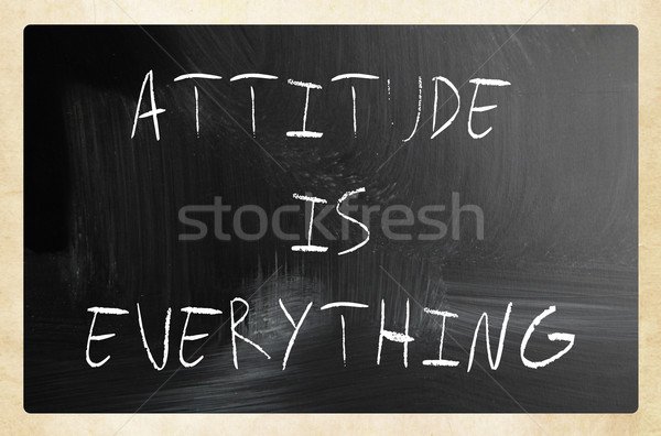 'Attitude is Everything' handwritten with white chalk on a black Stock photo © nenovbrothers