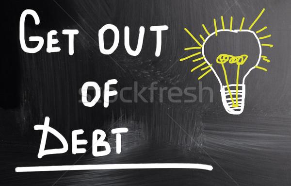 Ki adósság pénz cél pénz lemez Stock fotó © nenovbrothers