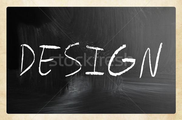 Zdjęcia stock: Słowo · projektu · biały · kredy · tablicy