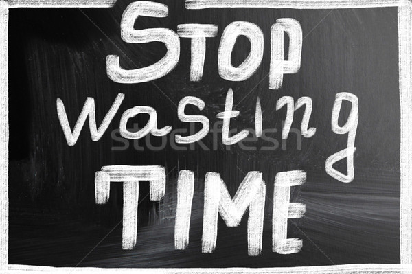 stop wasting time Stock photo © nenovbrothers