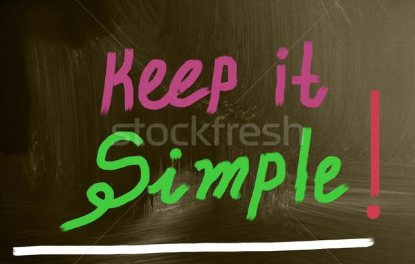 keep it simple! Stock photo © nenovbrothers