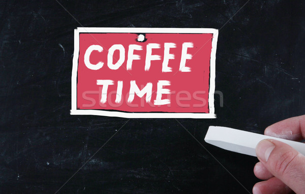 coffee time concept Stock photo © nenovbrothers