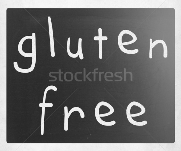 Sin gluten dieta blanco tiza pizarra Foto stock © nenovbrothers