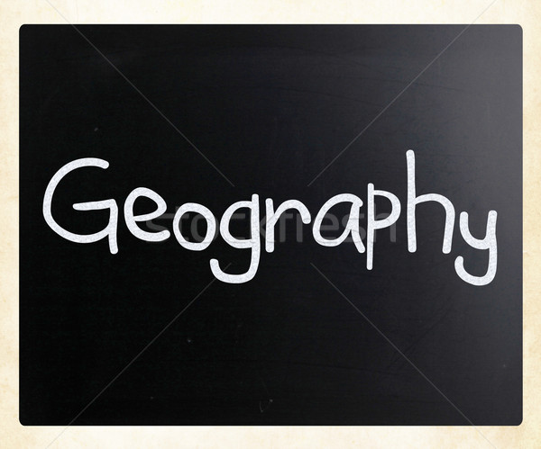 'Geography' handwritten with white chalk on a blackboard Stock photo © nenovbrothers