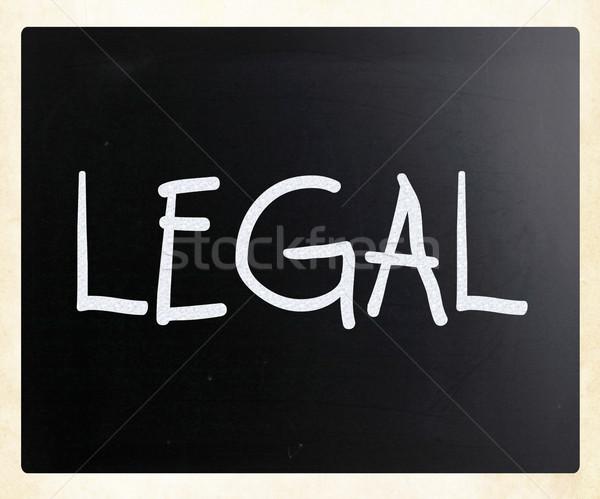 Mot juridiques blanche craie tableau noir Photo stock © nenovbrothers